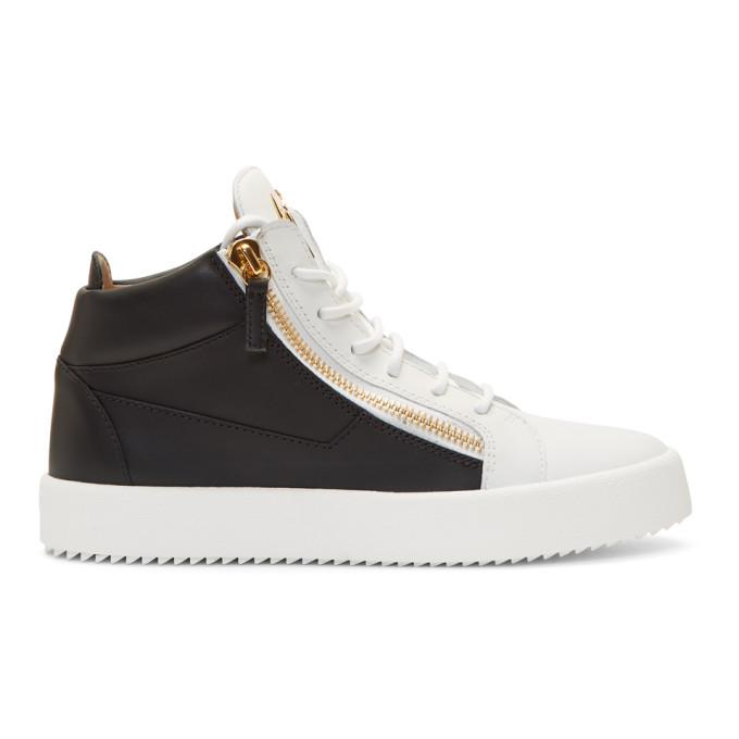 Giuseppe Zanotti Black & White May London High-Top Sneakers