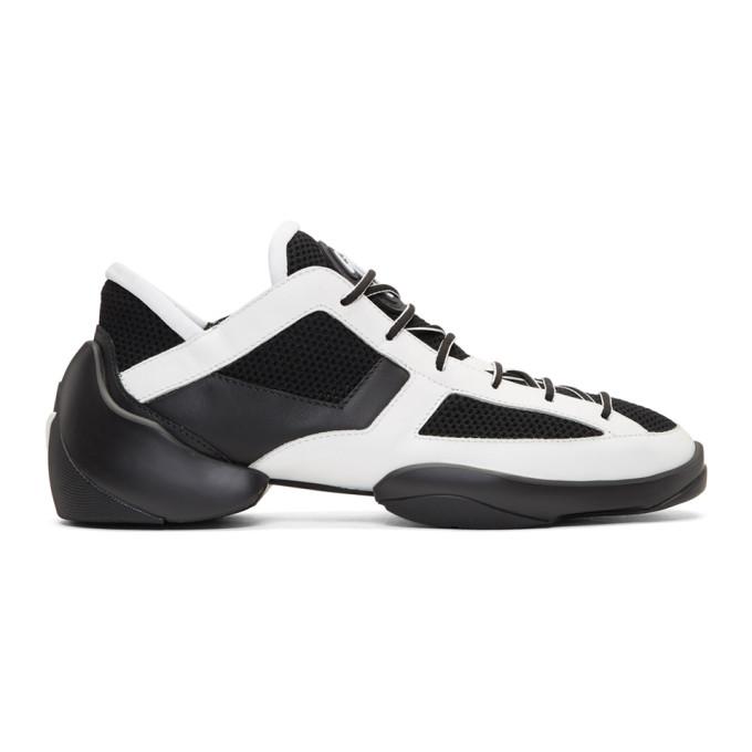 Giuseppe Zanotti White & Black Light Jump Sneakers