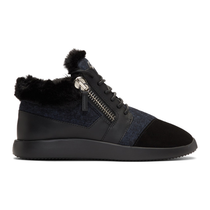 Giuseppe Zanotti Black Single Kalisi High-Top Sneakers