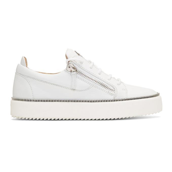 Giuseppe Zanotti White Zipper May London Sneakers