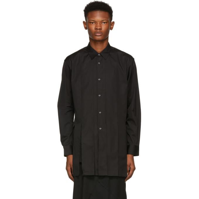 Comme des Garçons Shirt ブラック カットアウト ストリップ シャツ