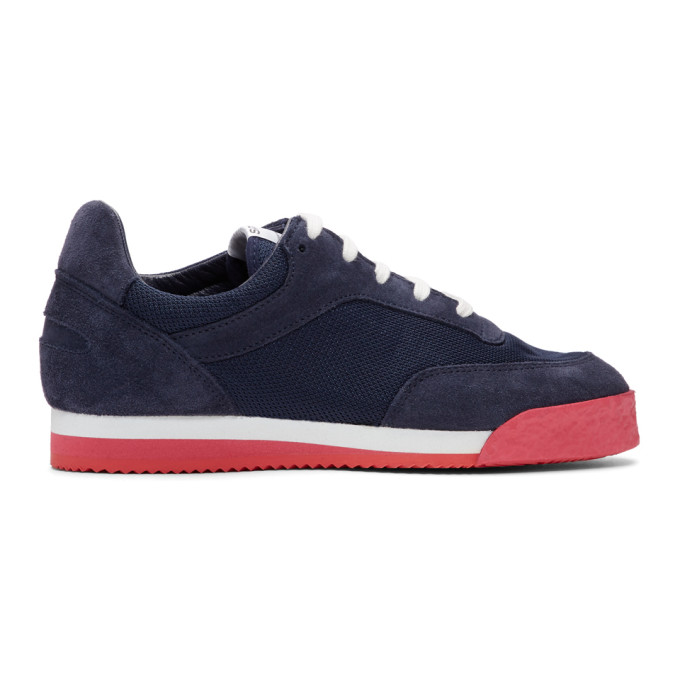 Comme des Garcons Shirt Navy & Red Spalwart Edition Pitch Sneakers