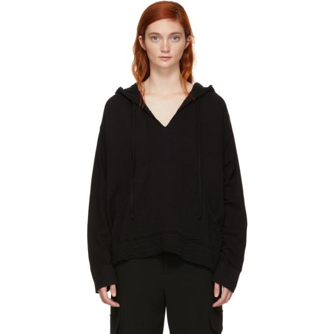 Image of Raquel Allegra Black Jersey Gauze Medley Hoodie