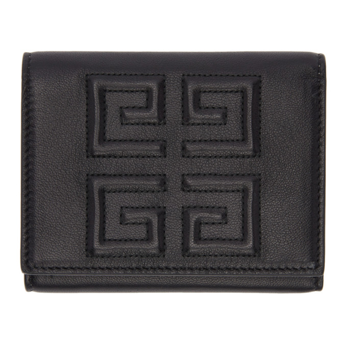 Givenchy Black 4G Trifold Wallet