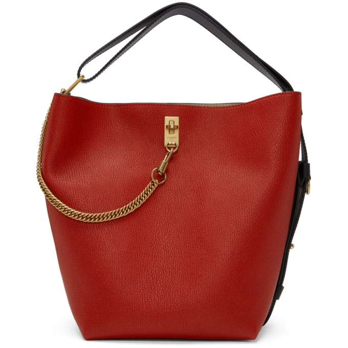 Givenchy Red Medium GV Bucket Bag