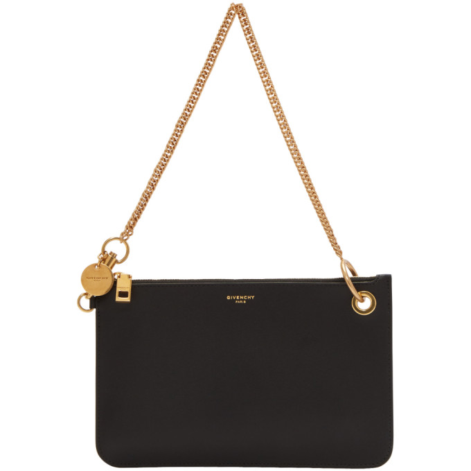 Givenchy Black GV Shopper Pouch Chain Bag