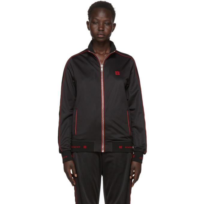 Givenchy Black Velvet Insert Track Jacket
