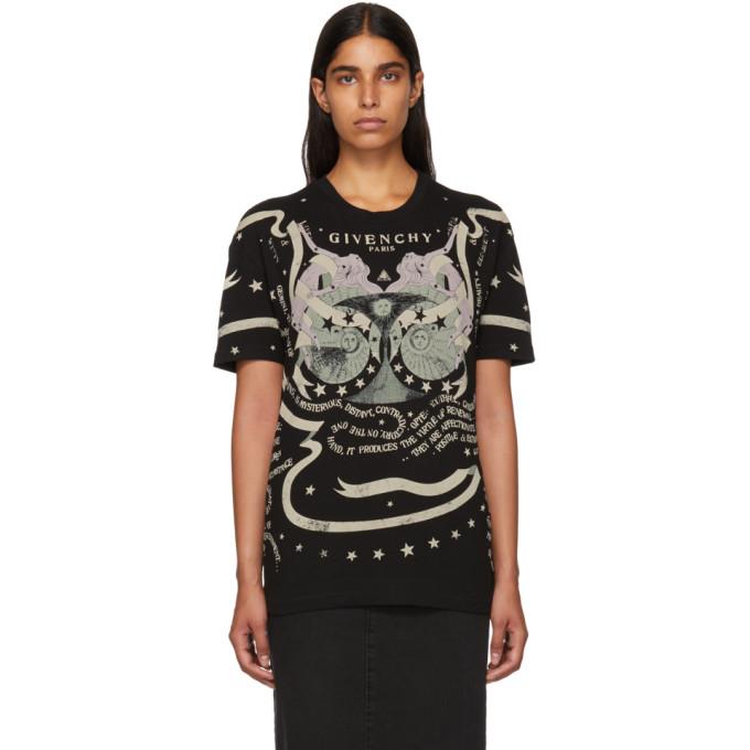 f2f1b1dc5 Givenchy Black Astrology Logo T Shirt