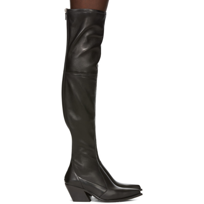 Givenchy Black Over-The-Knee Cowboy Boots