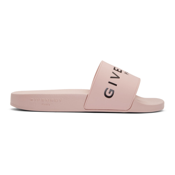 Givenchy Pink Pool Slides