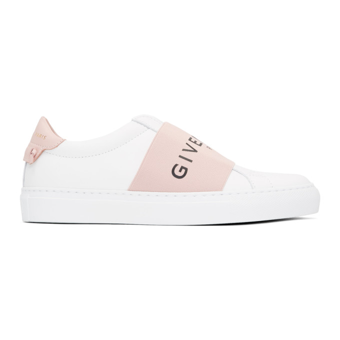 Givenchy White & Pink Elastic Urban Knots Sneakers