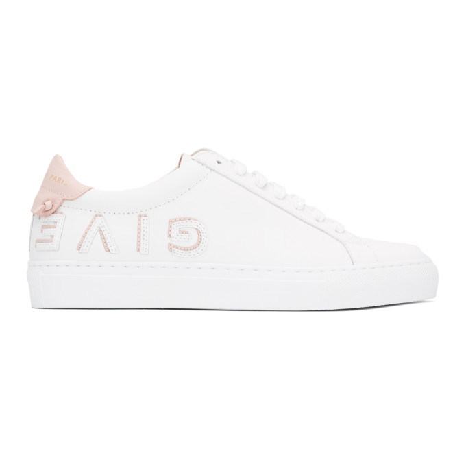 Givenchy White & Pink Logo Urban Knots Sneakers