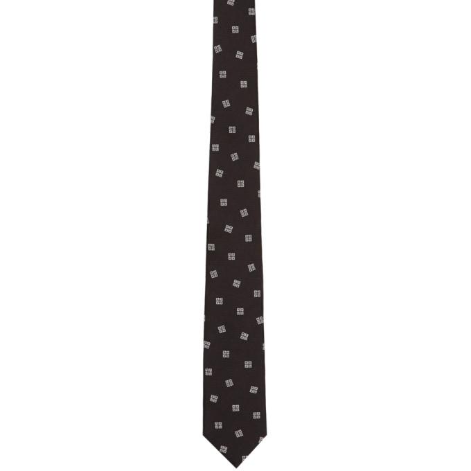 Givenchy Black & White 4G Tie