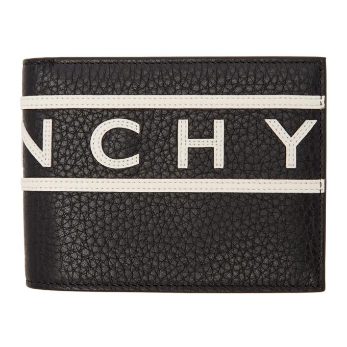 Givenchy ブラック リバース ロゴ ウォレット