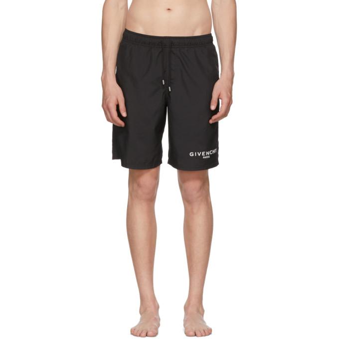 Logo Detail Nylon Swim Shorts, 001 Black