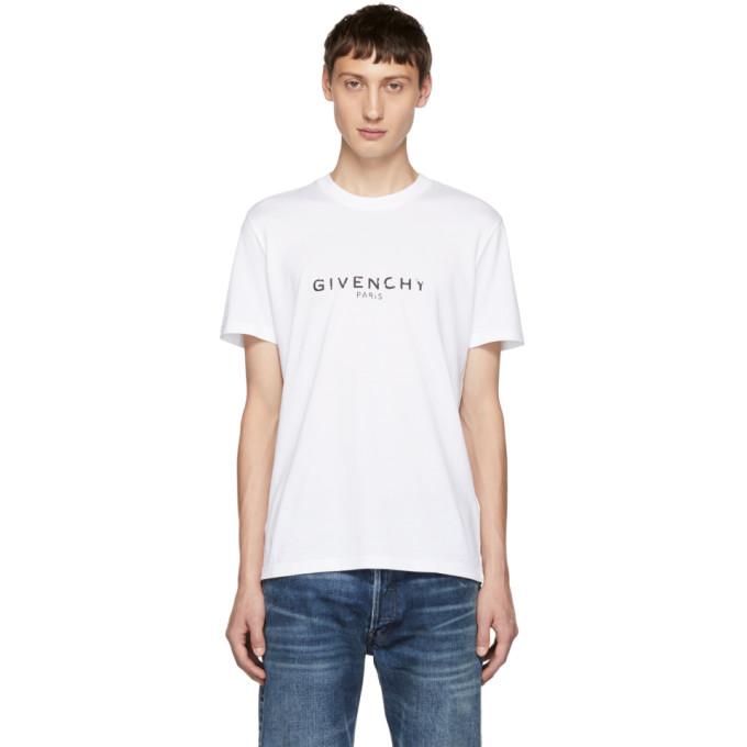 Givenchy ホワイト ロゴ T シャツ