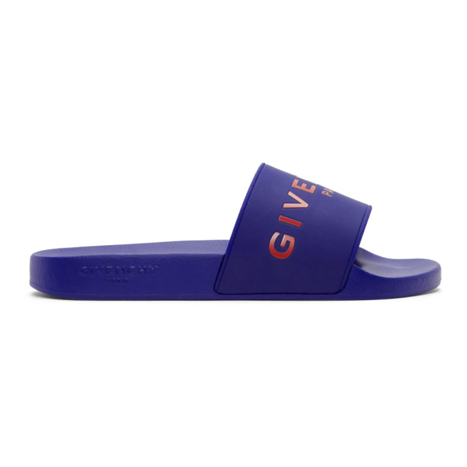 Givenchy Blue Logo Slides