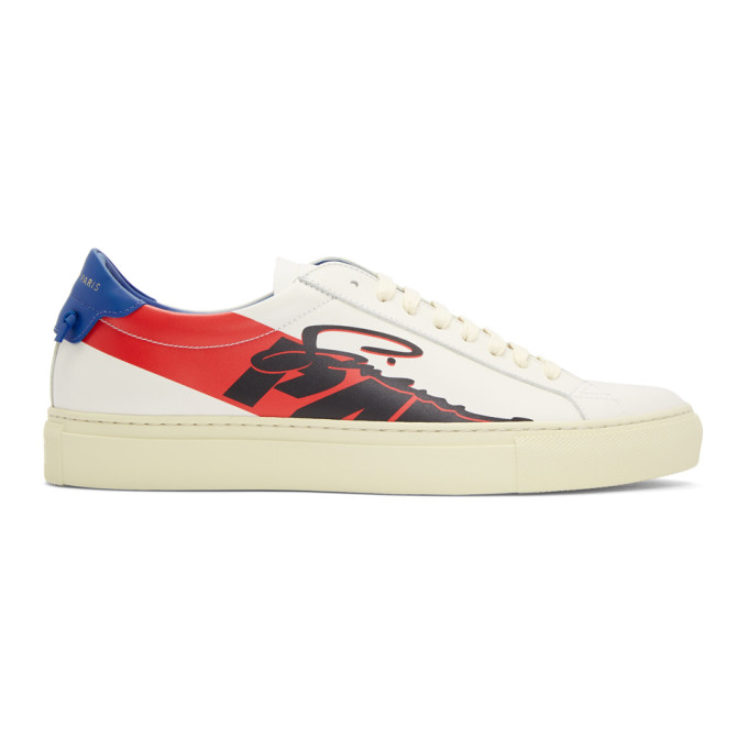 Givenchy White Motocross Urban Street Sneakers