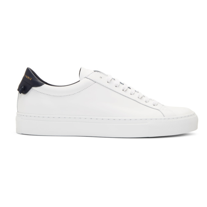 Givenchy White & Navy Urban Street Sneakers