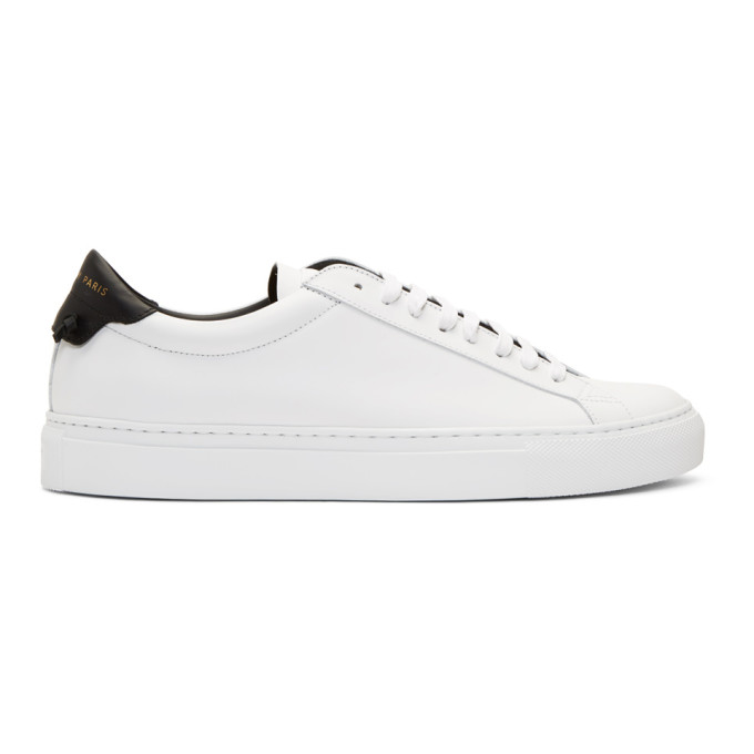 Givenchy White & Black Urban Street Sneakers