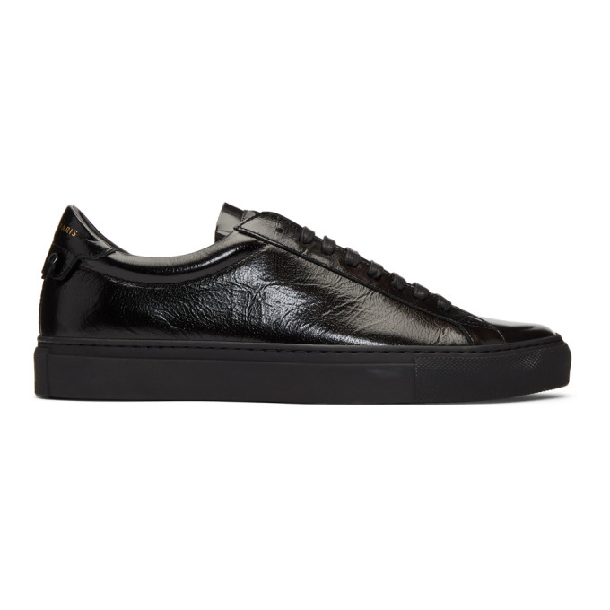 Givenchy Black Patent Urban Knots Sneakers