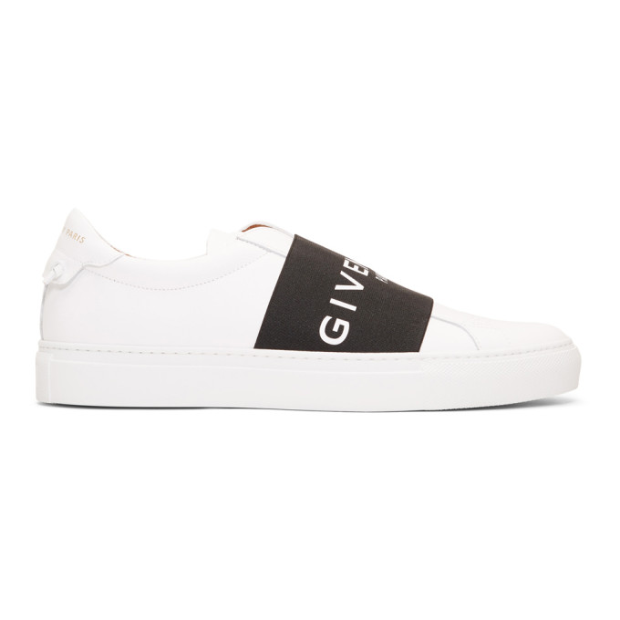 Givenchy White & Black Elastic Urban Street Knots Sneakers