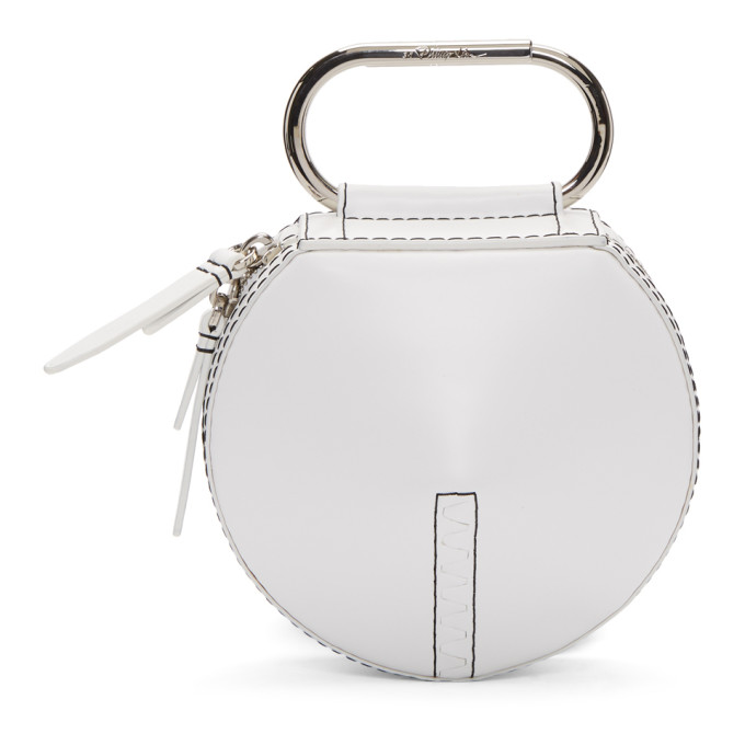31 Phillip Lim White Alix Circle Clutch