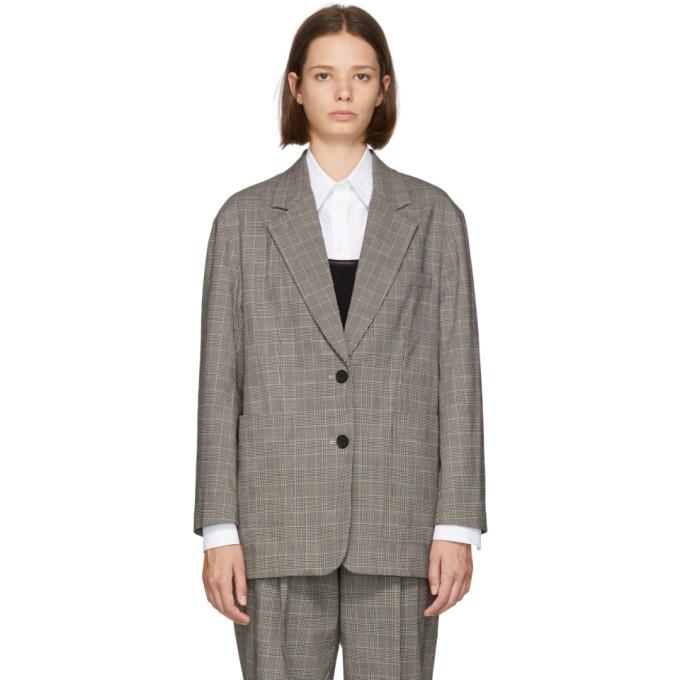 31 Phillip Lim Black and White Check Oversized Blazer