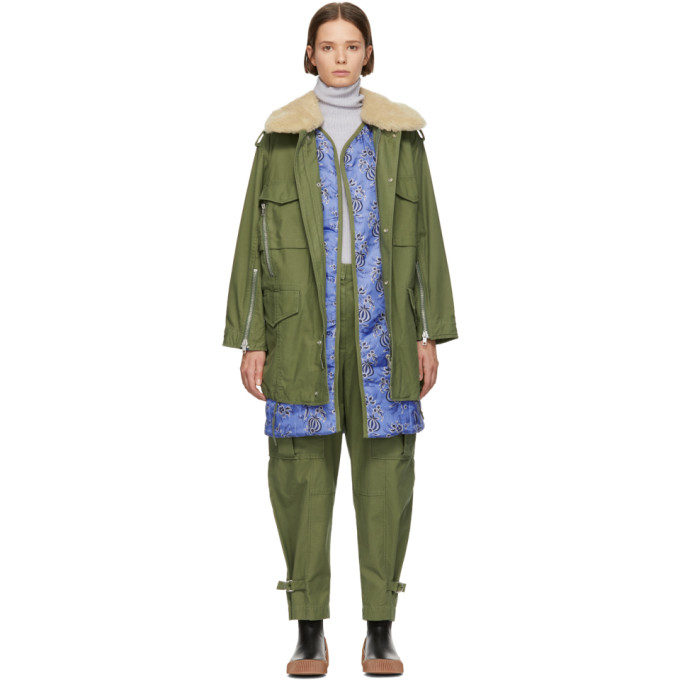 Oversized Utility Parka in Green
