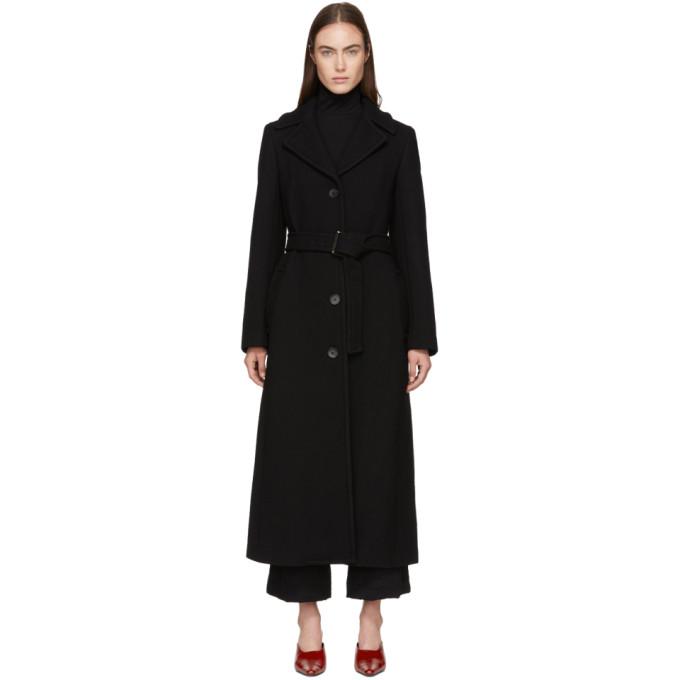 31 Phillip Lim Black Long Tailored Coat