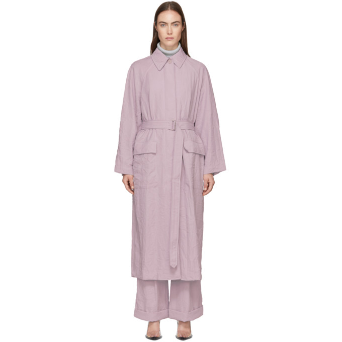 31 Phillip Lim Purple Oversized Trench Coat