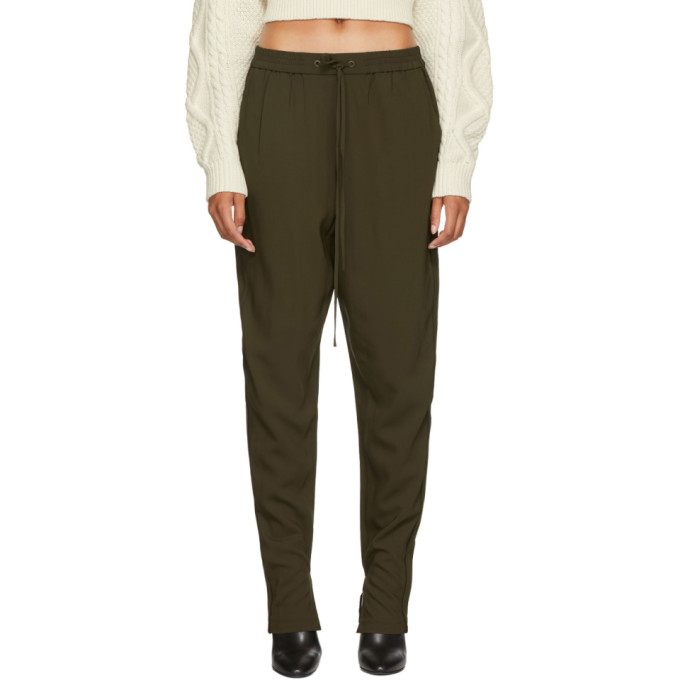 31 Phillip Lim Green Suiting Track Pants