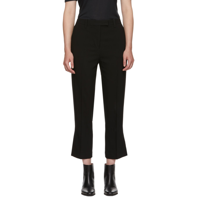 31 Phillip Lim Black Cropped Kick Flare Trousers