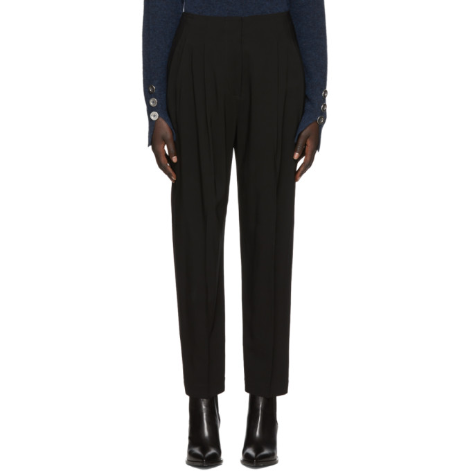 31 Phillip Lim Black Twill Pleated Trousers