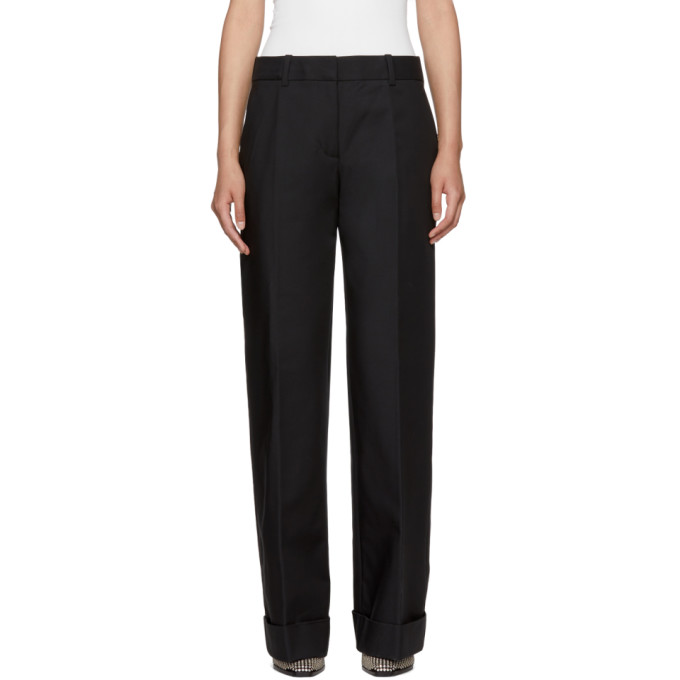 31 Phillip Lim Black Flat Front Cuffed Trousers