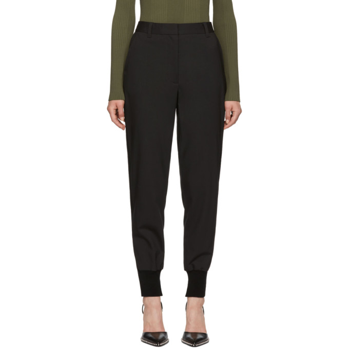 31 Phillip Lim Black Wool Jogger Trousers