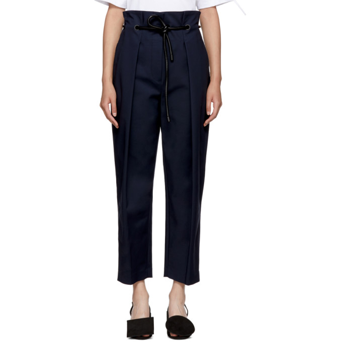 31 Phillip Lim Navy Origami Pleated Trousers
