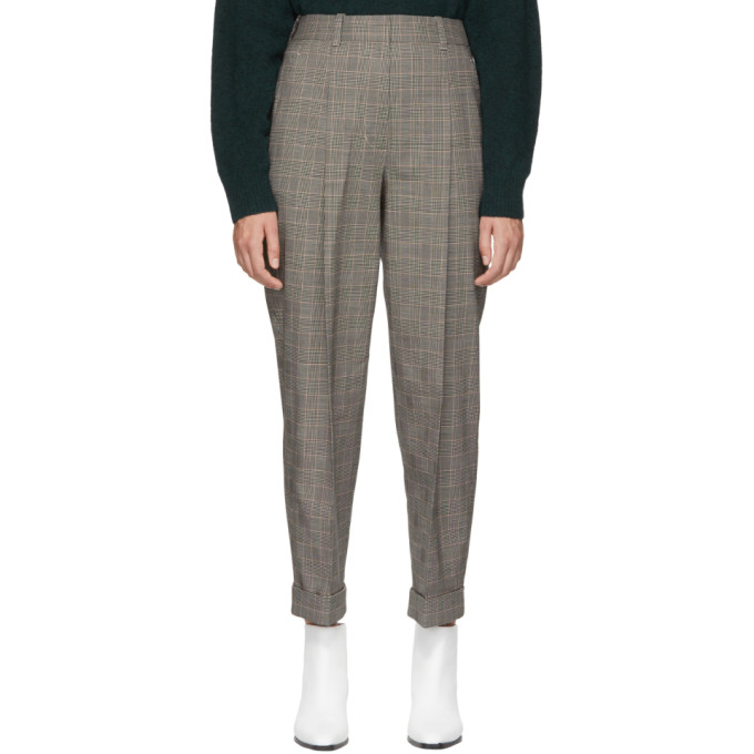 31 Phillip Lim Black Houndstooth Tapered Trousers