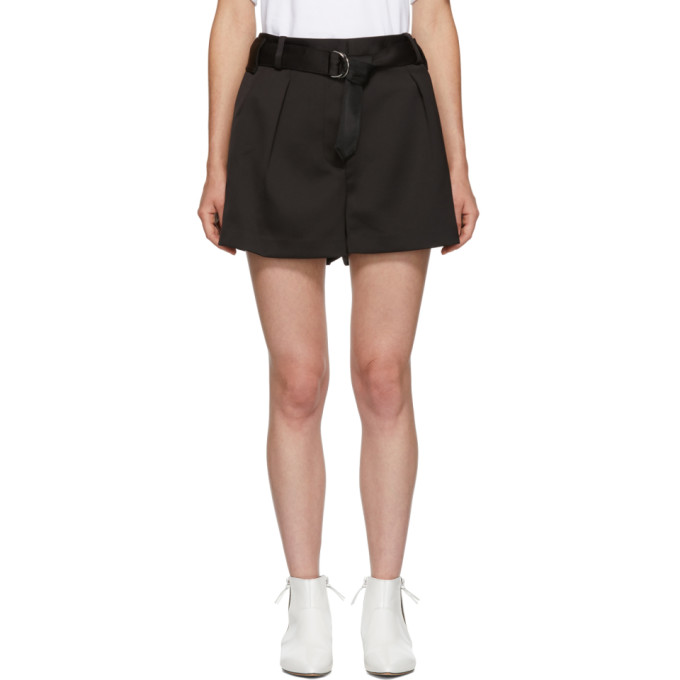 31 Phillip Lim Black Military Origami Shorts