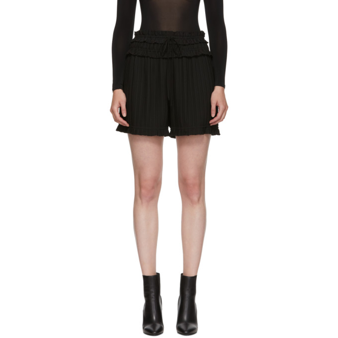 31 Phillip Lim Black Pleated Shorts