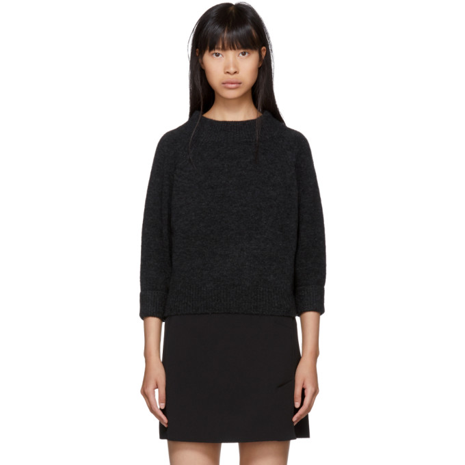 31 Phillip Lim Grey Lofty Mock Neck Sweater