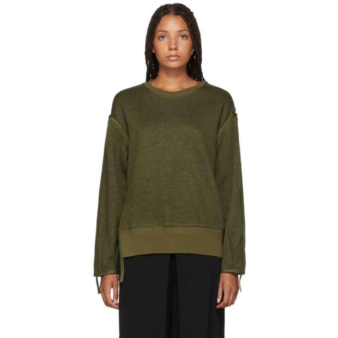 31 Phillip Lim Green Military Wool Sweater