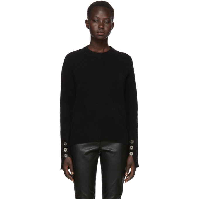 31 Phillip Lim Black Inset Shoulder High Low Sweater