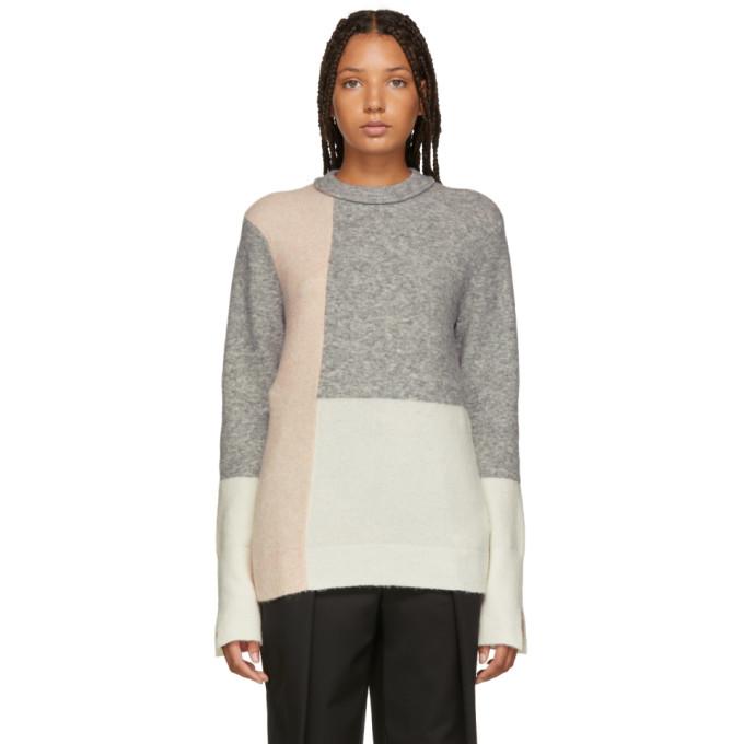 31 Phillip Lim Multicolor Colorblocked Lofty High Low Sweater