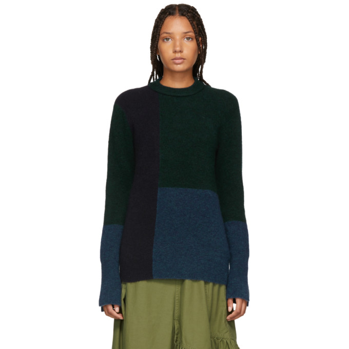 31 Phillip Lim Multicolor Colorblocked Lofty High Low Sweater