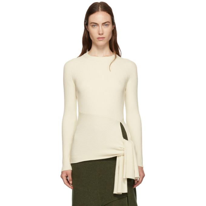 31 Phillip Lim White Waist Tie Sweater