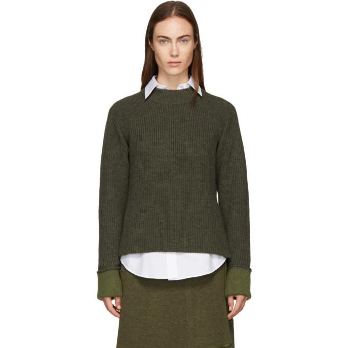 31 Phillip Lim Green Wool Blend Sweater