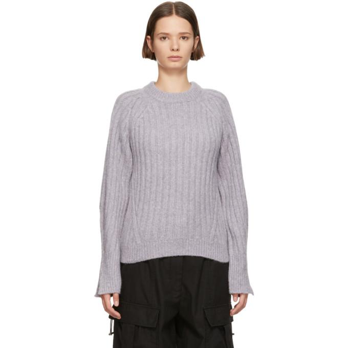 31 Phillip Lim Purple Lofty Rib Crewneck Sweater