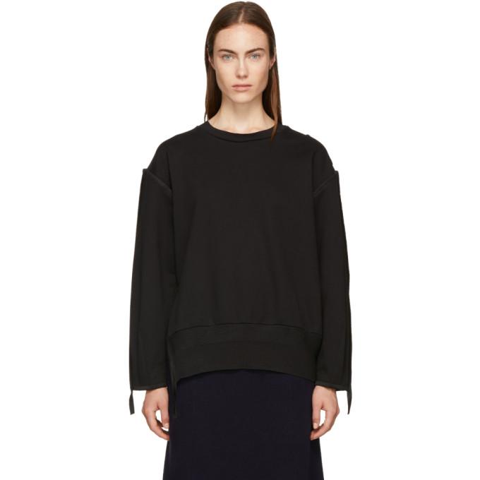 31 Phillip Lim Black French Terry Sweatshirt