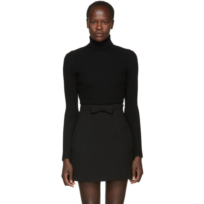 31 Phillip Lim Black Wool Rib Turtleneck